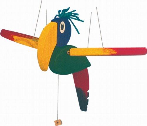 Woodyland 10215 - Schwingtier Papagei aus Holz