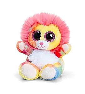 Keel Toys KEELTOYS-Peluche Animotsu Lion Arco Iris 15 cm-SF1637 SF1637 Amarillo Marrón