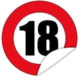 Zahl 18 Aufkleber | Personalisieren Sie Ihr Geschenk mit einem tollen Aufkeber