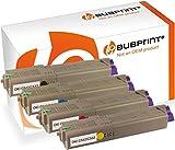 Bubprint 4 Toner kompatibel für Oki 46490404 46490403 46490402 46490401 für C532DN C542DN MC563DN MC573DN 1.500 Seiten Schwarz Cyan Magenta Gelb