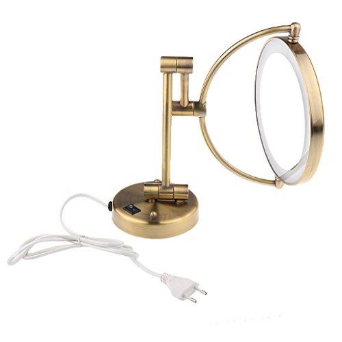 Homyl Zweiseitig beleuchteter LED Kosmetikspiegel - 3-/ 5-/7-Fach Vergrößerung verstellbar Make-up...