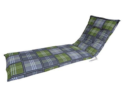 """Madison Rollliegenauflage A 054\"""", anthrazit grün kariert, 200 x 65 x 8 cm"""