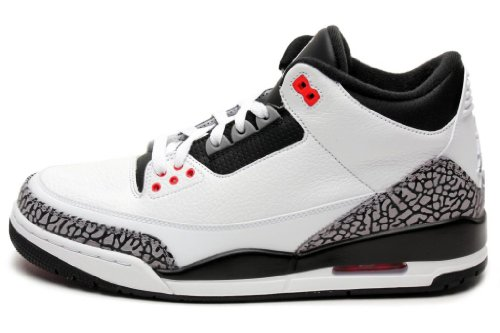 Nike Air Jordan 3 Retro 'Infrared 23' White/Black-Cmnt Gry-Infrrd 23 Trainer (42 EUR)