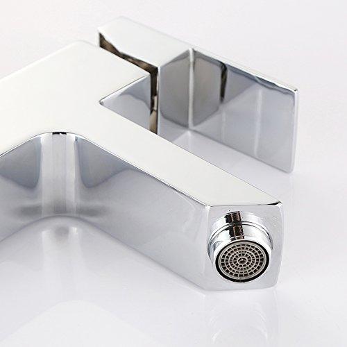 Homelody Waschtischarmatur Badarmatur Mischbatterie Waschbecken Wasserhahn Waschtisch armatur bad Waschbeckenamatur Einhebelmischer f.badzimmer - 5