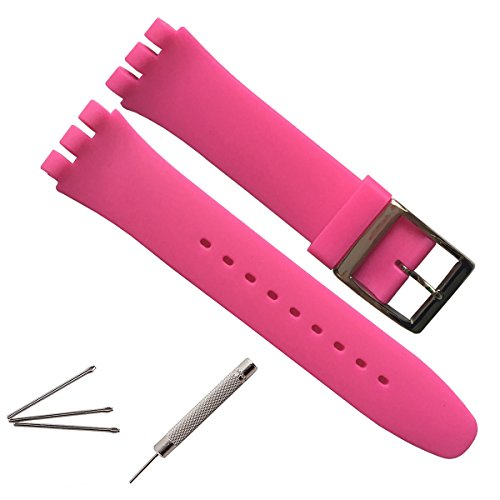 greenolive-19mm-replacement-waterproof-silicone-rubber-watch-strap-watch-band-rose