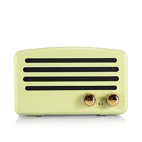 Retro Bluetooth Portable Lautsprecher Wireless Creative Gift Outdoor Sport Mini Speaker,Green