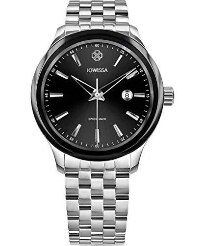 Jowissa Tiro Swiss J4.235.L - Reloj para Hombre, Color Negro y Plateado