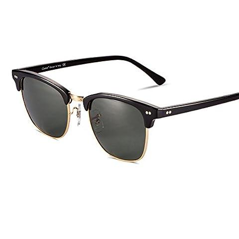 Carfia Vintage Sonnenbrille Club Stil Sonnenbrille für Damen und Herren,
