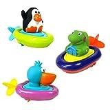 TOYMYTOY 3 unids tirar cadena animal juguetes de agua juguetes de agua para niños fiesta infantil del agua y la diversión de la bañera