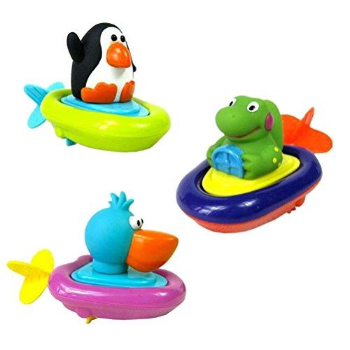 TOYMYTOY 3 unids tirar cadena animal juguetes agua