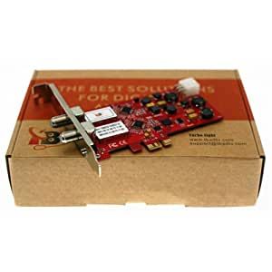 TBS Dual DVB-S2 High Definition Digital Satellite Tuner PCI Express Card HD (DVB-S2/DVB-S) Receiver