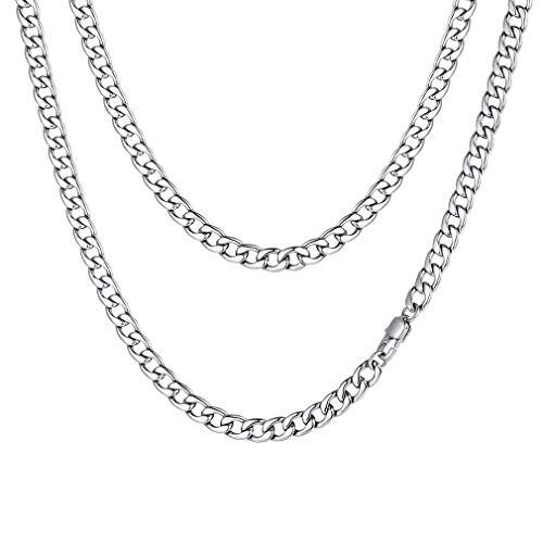 FaithHeart Königskette Armband, Schlüsselkette Hosenkette 5 mm Breit Stärke aus Edelstahl