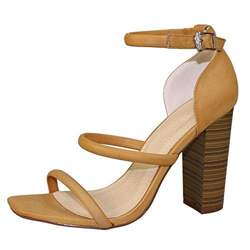 Frauen Casual Sandalen Schuhplattform Heels Wedges Schuhe, Camel camel (spot)
