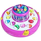 Electric Rotating Magnetic Fishing Game with the Music Lights (Blue / Pink)