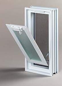 Fenêtre basculante pour l'installation dans un mur de briques de verre, au lieu de deux brique de verre 19x19x8cm, vertical