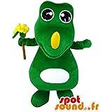 Mascota SpotSound Amazon personalizable Pitufina rubia. Pitufo traje