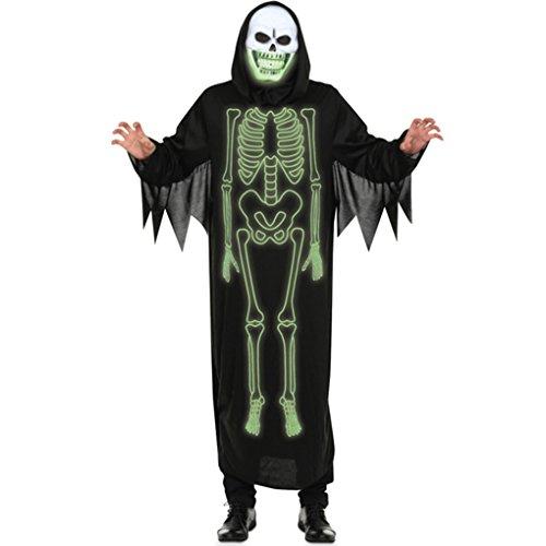 Ranboo Männer Halloween Fancy Dress Kapuzen Schädel Ghost Cosplay Kostüme (Fancy Dress Kostüme Zombie Braut Engel)
