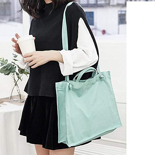 XUEQQ Stofftasche literarische einfache Umhängetasche weibliche Tasche Wilde Diagonale tragbare einfarbige Tasche -