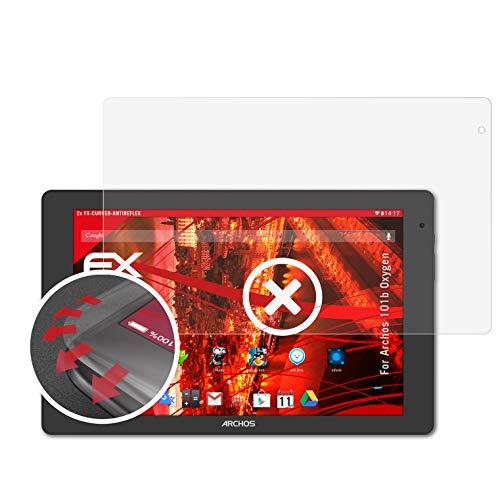 atFolix Schutzfolie passend für Archos 101b Oxygen Folie, entspiegelnde & Flexible FX Bildschirmschutzfolie (2X)