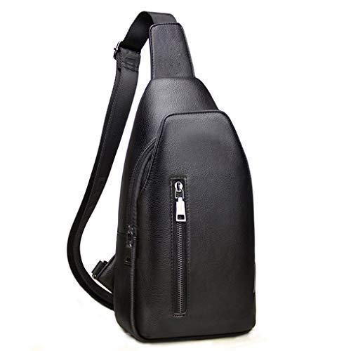 Herren Brusttasche Leder Schulter Umhängetasche Outdoor Business Freizeit Reisetasche Wasserdichte Sporttasche (größe : 16 * 5.5 * 33cm)