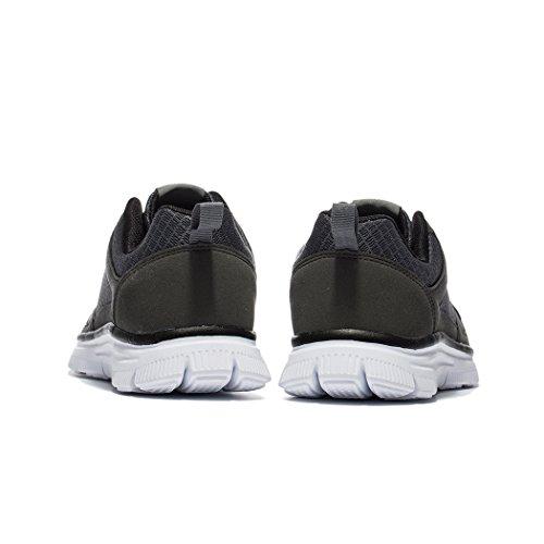 NDB Herren Leichtes Sneaker Sportschuhe Laufschuhe Dunkelgrau (Dark Grey)