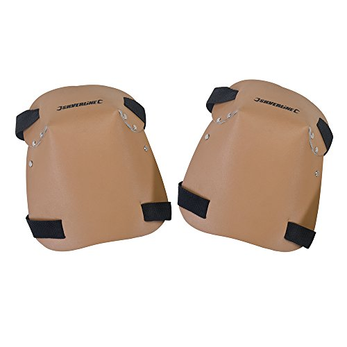 Silverline CB08 Knee Pads Leather, One Size