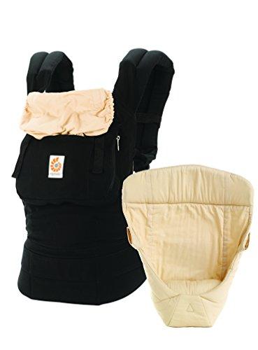 Ergobaby Babytrage Kollektion Original -von Geburt an Paket- (3,2 – 20 kg), Black Camel