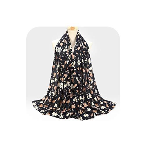 YearningH Chiffon-Schal Design Blumen-Tücher Schal Kopftuch Wraps Turbane Stirnband, Color40