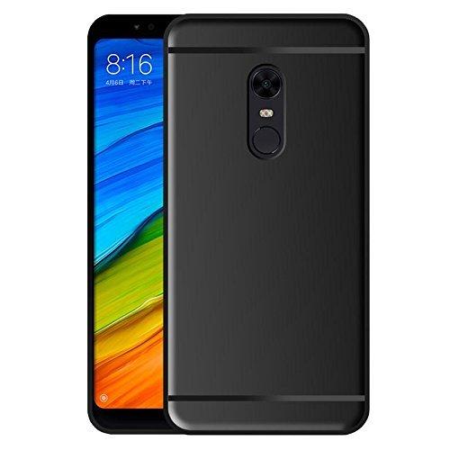 TrueUpgrade Redmi Note 5 Cover / Redmi Note 5 Back Cover / Redmi Note 5 Plain Case & Cover / Soft TPU Cover For Xiomi Mi Redmi Note 5 - Black