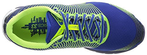 Asics Chaussures de Course Gel Lyte 33 pour homme - Multicolore Jaune (Royal/Flash Yellow/Navy)