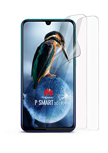 moex 2X Huawei P Smart (2019) | Schutzfolie Klar Bildschirm Schutz [Crystal-Clear] Screen Protector Display Handy-Folie Dünn Bildschirmschutz-Folie für Huawei Nova Lite 3 Bildschirmfolie