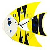 LYXPUZI Wandbehang personalisierte dekorative Uhr der Karikatur/kreative Hauptschlafzimmerstillequarzwanduhr
