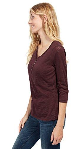 Tom Tailor für Frauen T-Shirt gemustertes Blusen-Shirt intensive plum