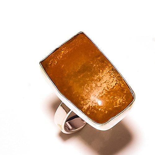 Fantasy. größere. Braun Bild Jasper Sterling Silber Overlay 6Gramm Ring Größe 7US (Braun-overlay)