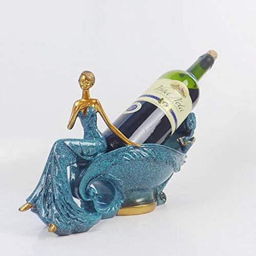 Yarmy Weinregal europäische kreative Weinregal Handwerk Heimtextilien Langen Rock Schönheit Wein...