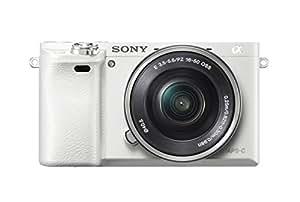 Sony Alpha 6000L Fotocamera Digitale Compatta, Obiettivo Intercambiabile, Sensore APS-C CMOS Exmor HD da 24.3 MP, Obiettivo da 16-50 mm, Bianco