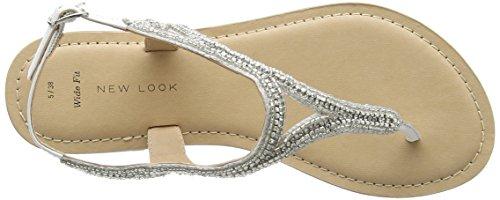 New Look Wide Foot Future, Sandales à talon femme Blanc (Blanc)