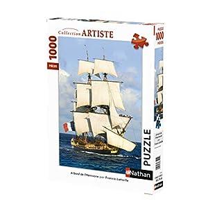 Nathan-a Borde 1000Piezas Cassia Tete; Puzzle Adulto; Barco; Hermione; Fregate; Barco, 4005556876228, Nada