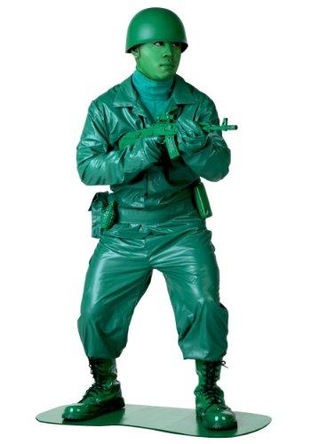 Grün Kostüm Männer Armee - Fun Costumes Grünes Armee-Mann-Kostüm - ST