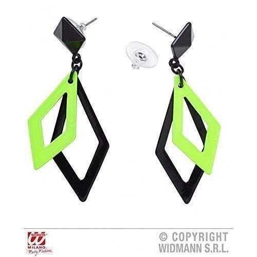 Ohrringe Schwarze Kostüm - Lively Moments Freche grün - Schwarze Ohrringe passend zu Kostümen der 80er oder Disco