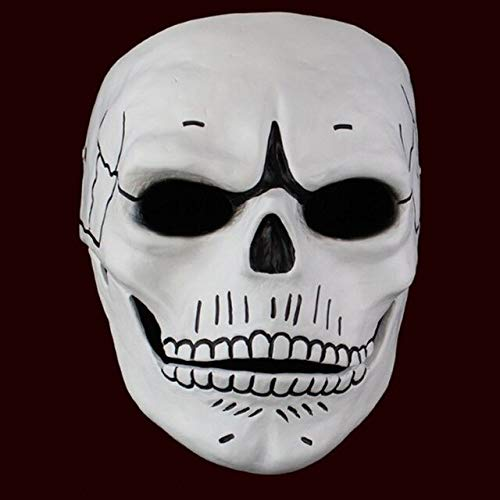 Requisiten Bond James Kostüm - Dodom Film 007 James Bond Spectre Harzmaske Schädel Skelett Unheimlich Halloween Karneval Cosplay Maskerade Ghost Party Maske Prop, Weiß