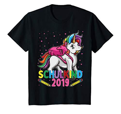 Kinder Schulkind 2019 Mädchen Einhorn T-Shirt 1. Klasse Einschulung T-Shirt