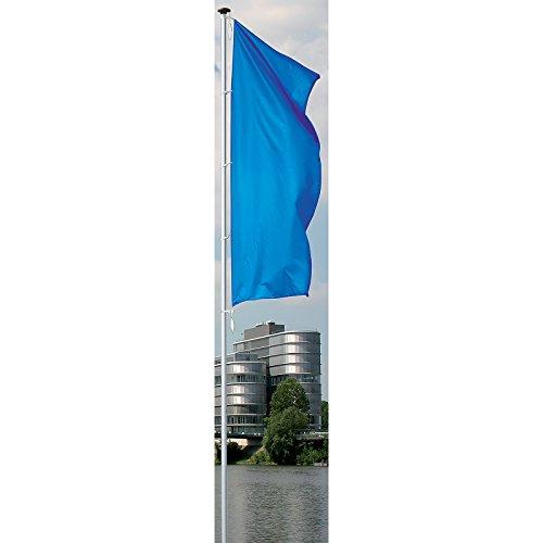 MANNUS Fahnenmast aus eloxiertem Aluminium - mit Zylinderschloss, Ø 100 mm, ohne drehbaren Ausleger - Höhe über Flur 10 m - Fahne Fahnen Fahnenmast Fahnenstange Flagge Flaggen Flaggenmast Flaggenmasten Mast