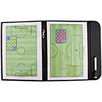 MagiDeal Plegable Fútbol Magnético Soccer Coaching Táctica Carpeta de Junta con Pluma Accesorios