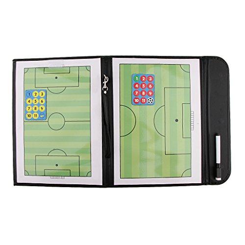 MagiDeal Fussball Coach-Board Professionell Fußball Taktikmappe, mit Magnet und Stifte Taktiktafel