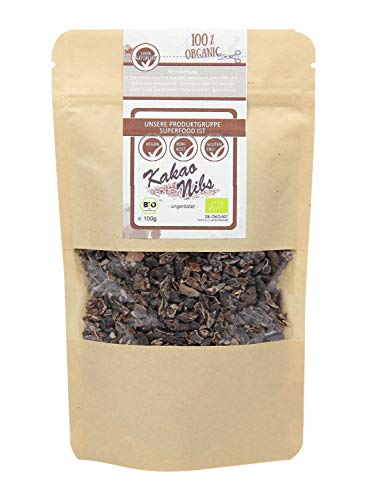direct&friendly Bio Kakao Nibs ungeröstet, ungesüßt in Rohkost Qualität (200 GR)