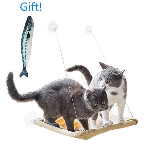 ANPI Katze Fensterplätze,Katzenhängematte Katzenbett Fenster Haustier Schlafen Spielen, Innerhalb 15kg