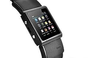 E-Ceros intelligent Nano 3G étanche Smartwatch - MTK6577 Dual Core CPU 1GHz, écran tactile capacitif de 1,54 pouces, IP