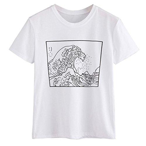 � Damen Druck T-Shirt Ladies Extended Shoulder Tee, Baumwollshirt mit Turn-up Ärmeln (Womens Größe 20 Halloween Kostüme)