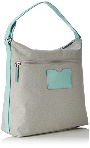 Bree - Limoges 5 S17, Borsa a spalla Donna Mehrfarbig (light Grey/blue)